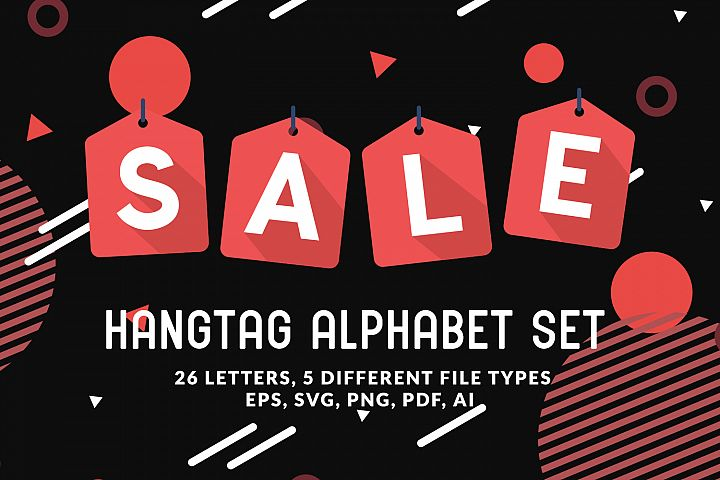 Hangtag Alphabet Set