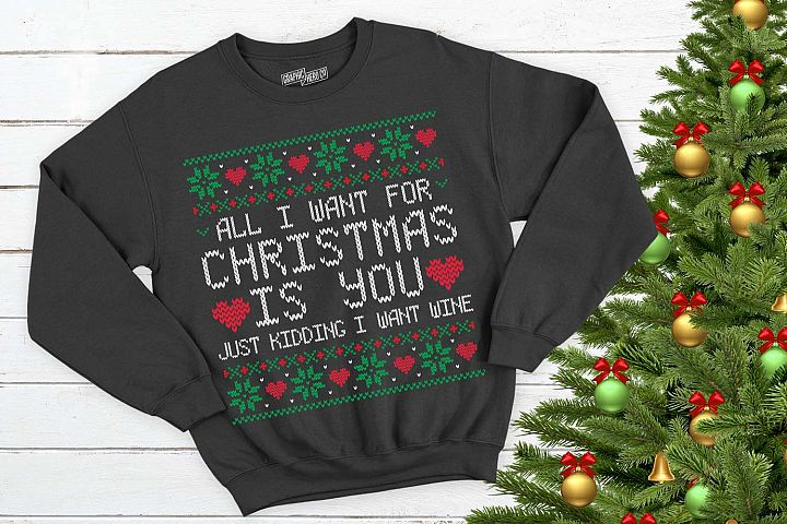 All I want for christmas is wine Christmas Printable