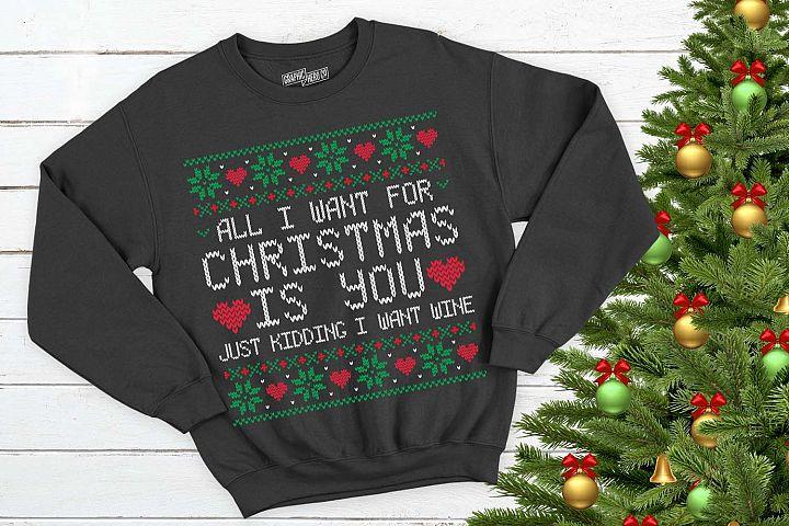 All I want for christmas is wine Christmas Printable