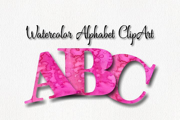 Watercolor Alphabet ClipArt