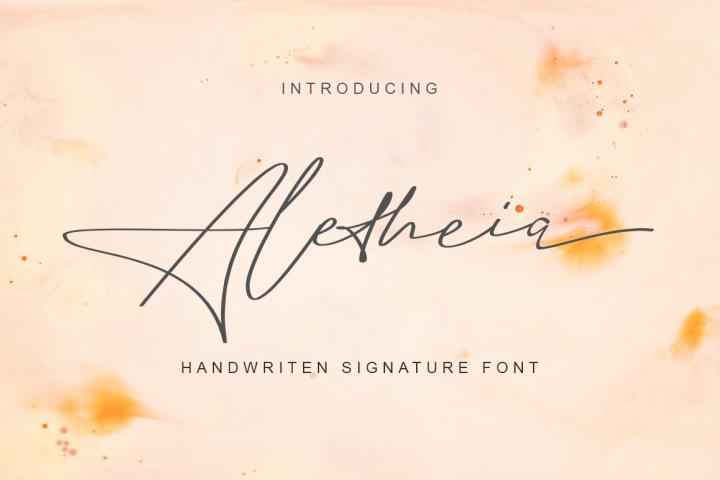 Aletheia | A Handwritten Signature Font