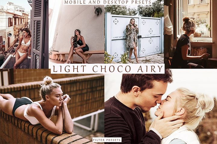 LIGHT CHOCO AIRY 8 Lightroom Mobile Desktop Presets