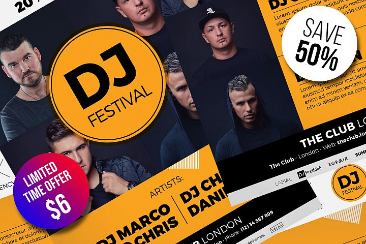DJ Festival Flyer Templates