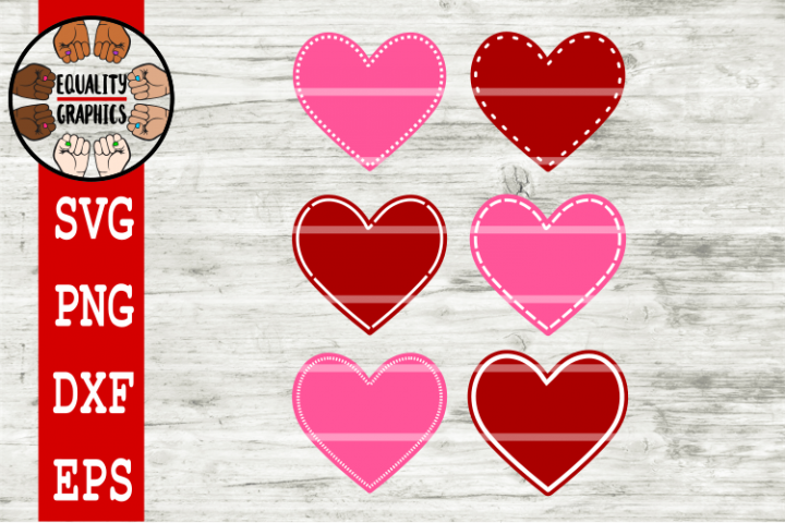 Detailed Valentines Hearts SVG | DXF | PNG | EPS