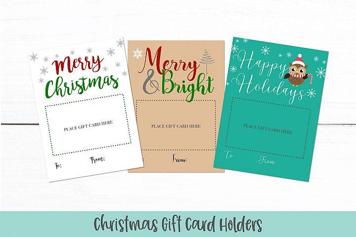 Christmas Gift Card Holders | Printable Christmas Card PDF