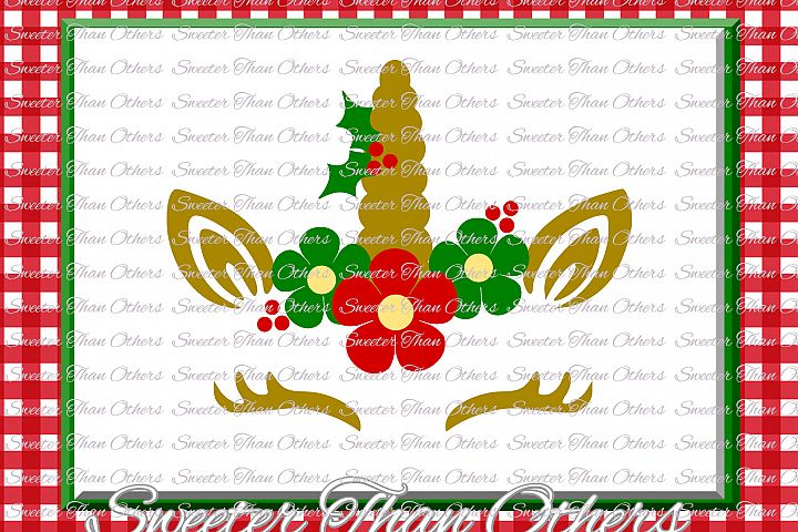 Christmas Svg, Unicorn Svg, Christmas Unicorn svg