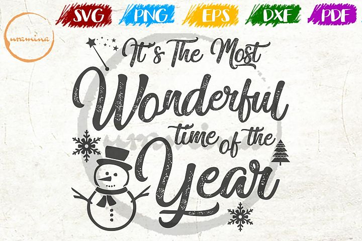 Its The Most Wonderful Time Christmas SVG PDF PNG
