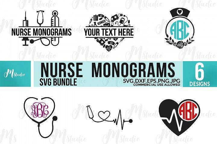 Nurse Monograms SVG