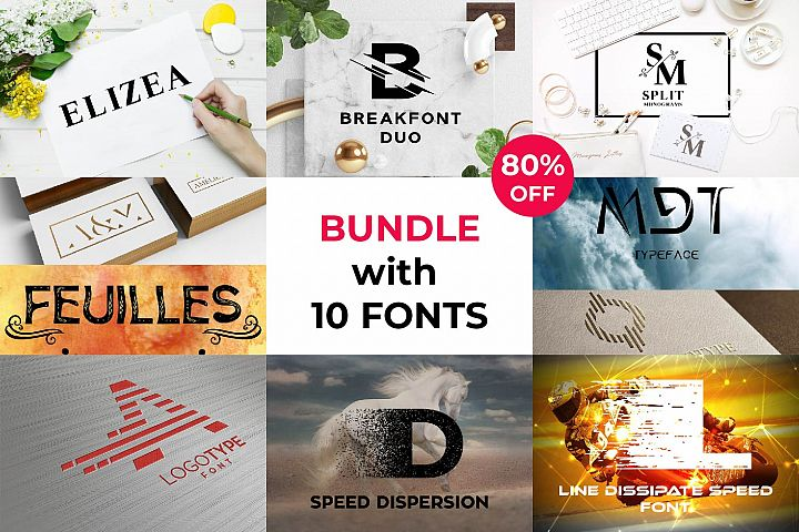 Ultimate Bundle with 10 Fonts