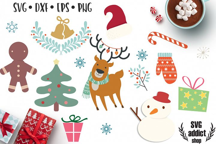 Christmas Graphics SVG Pack - Winter Clip Art