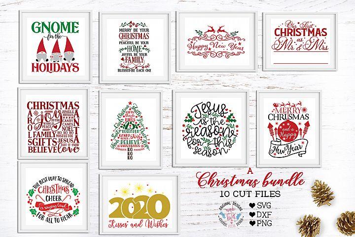 A Merry Christmas Cut Files Bundle