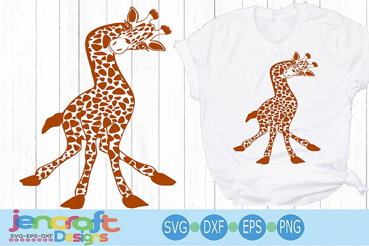 Funny Baby Giraffe svg, Cute Fun Safari Giraffe cut file dxf