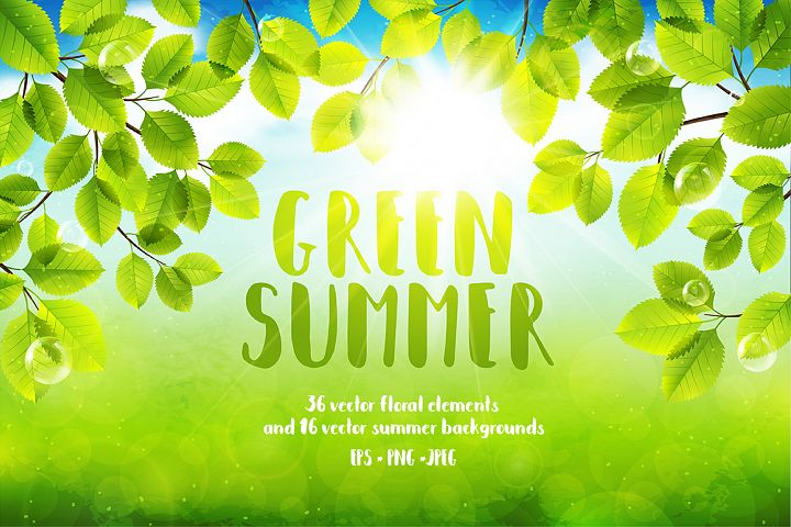 Green Summer Vector Collection