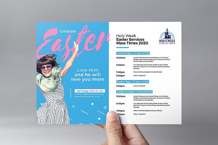 Easter Service Flyer Template example image 2
