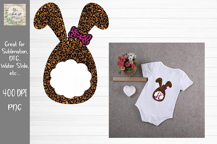 Leopard Bunny Monogram, Perfect for Sublimation and More!
