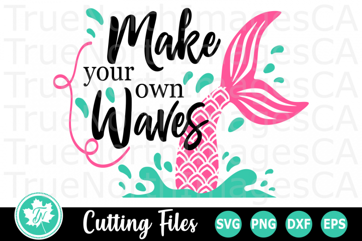 Make Your Own Waves - A Summer SVG Cut File