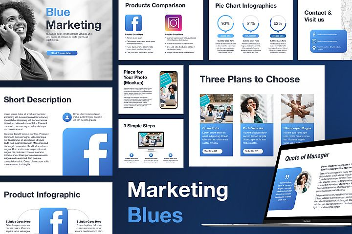 Marketing Blues Keynote Template