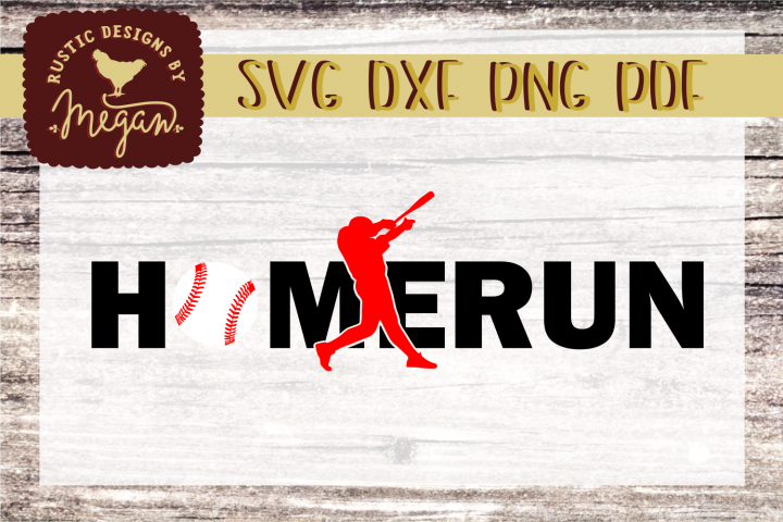 Homerun Baseball Softball SVG DXF