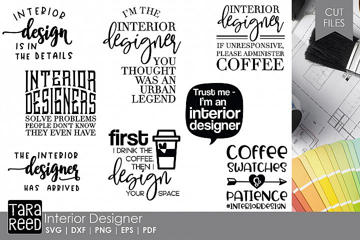Interior Designer - SVG and Cut Files for Crafters