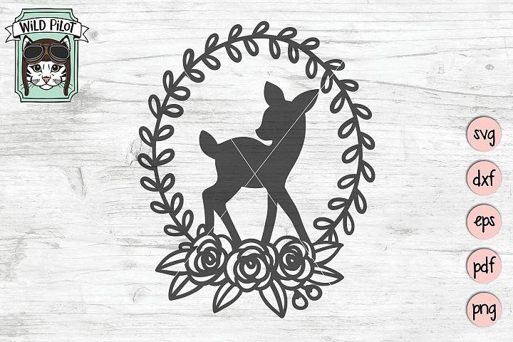 Deer SVG file, Baby Deer, Fawn Cut file, Deer Silhouette