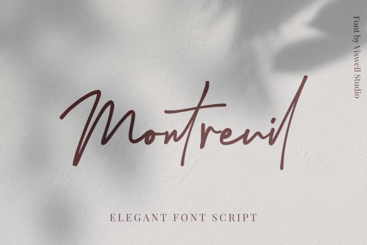 Montreuil - Elegant Signature Font
