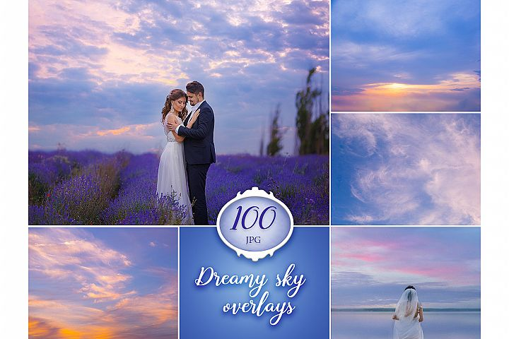 100 Dreamy Sky Photo Overlays