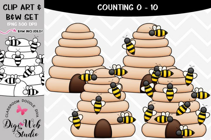 Clip Art / Illustrations - 0-10 Counting Bees