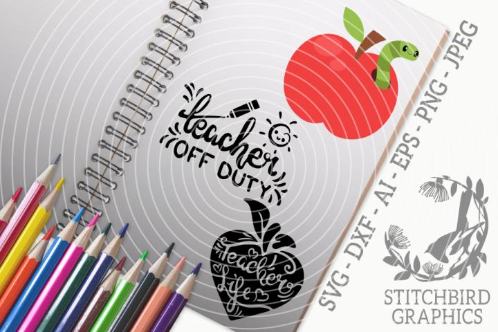 Teachers Life Bundle SVG, Silhouette Studio, Cricut, Eps