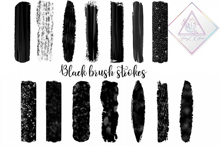 Black Brush Strokes Clipart