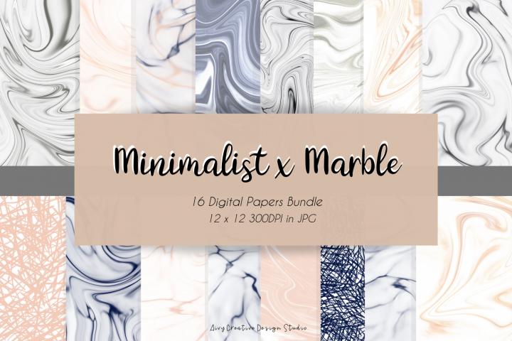 Minimalist x Marble Digital Paper Bundle