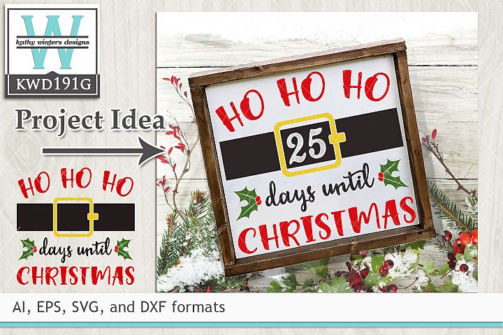Christmas SVG - Days Until Christmas