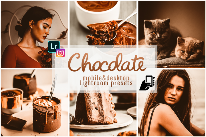 Chocolate presets brown preset lightroom mobile instagram pc