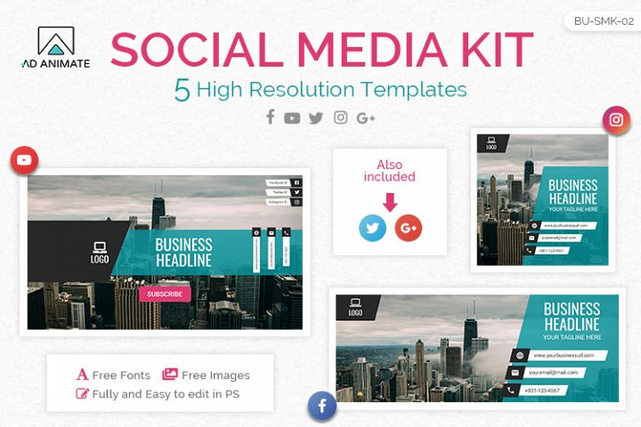 Logix Social Media kit - multipurpose and corporate business