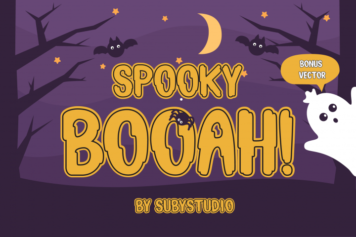 Spooky Booah! Font Display