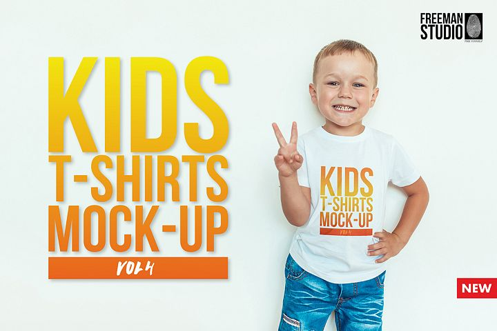 Kids T-Shirt Mock-Up Vol. 4