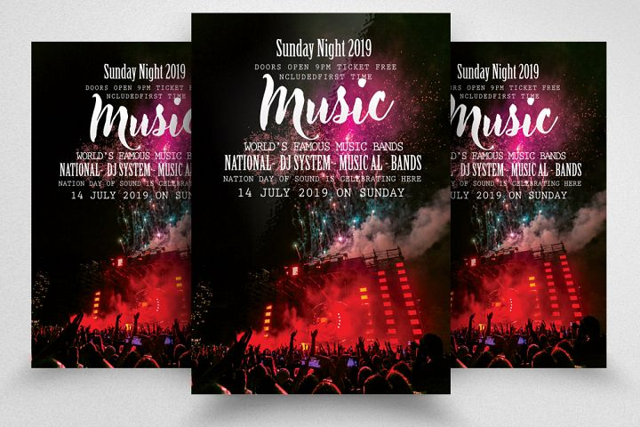 Music Concert Night Flyer Template