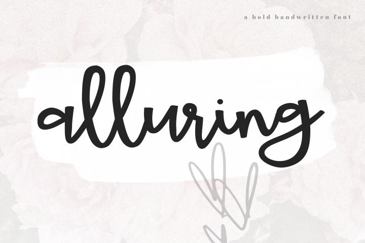 Alluring - A Bold Script Font