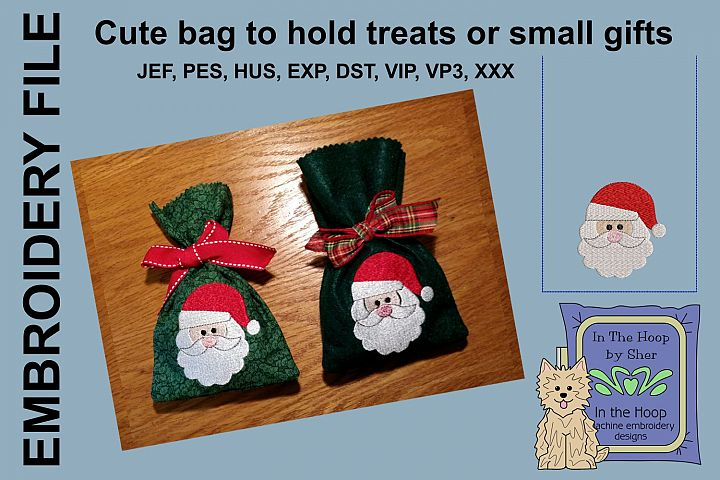 ITH Santa Treat Bag or Small Gift Bag