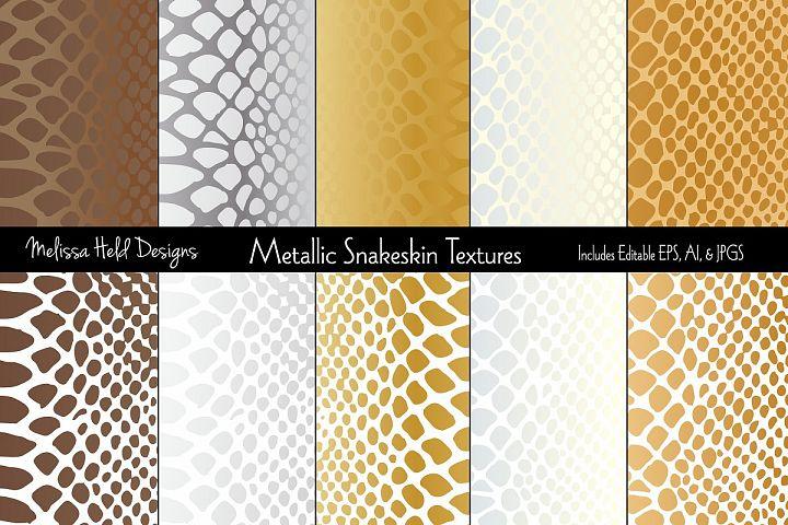 Metallic Snakeskin Textures