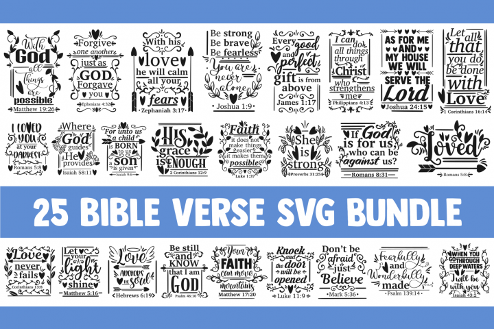 Bible verse SVG bundle, christian svg, blessed svg religious