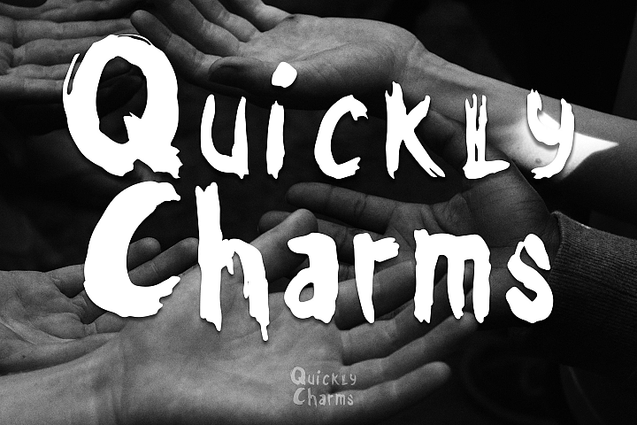 Quickly Charms - Brush Font