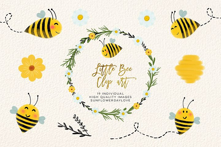 bee clip art, bees illustration, Honey bee clipart