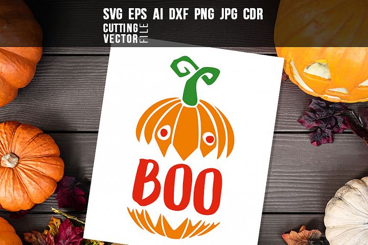Boo - svg, eps, ai, cdr, dxf, png, jpg