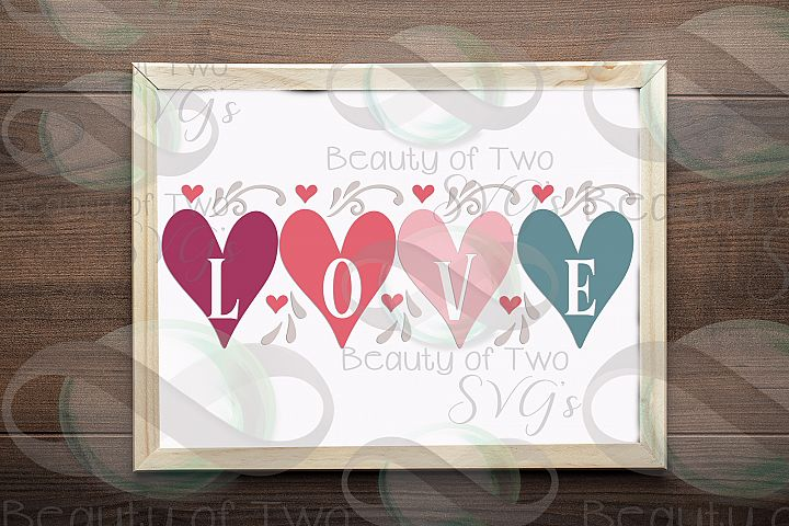 Valentines Farmhouse love hearts svg, Valentines love svg