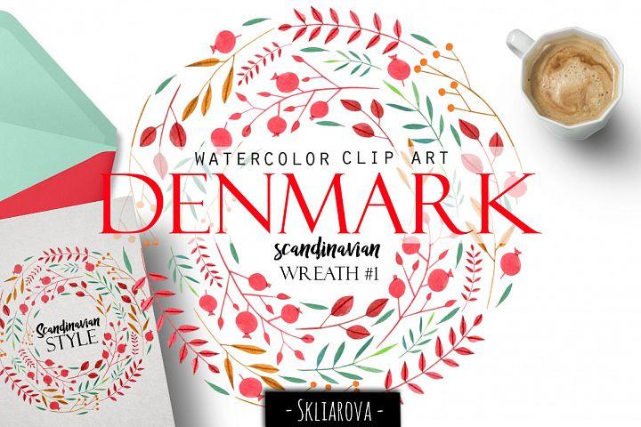 Denmark. Scandinavian wreath #1