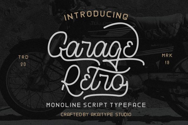 Garage Retro - Vintage Font