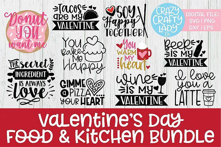 Valentines Day Food Kitchen SVG DXF EPS PNG Cut File Bundle