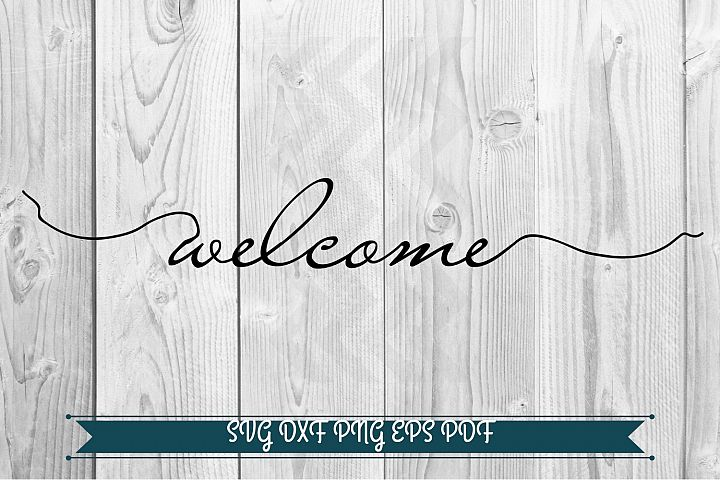 Welcome svg, Welcome Sign svg, Silhouette cut files