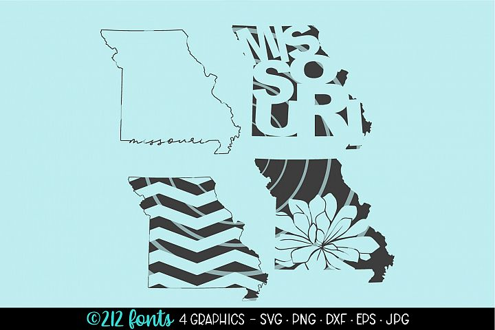 4 - Missouri State Map Graphic Cut File DXF PNG JPG SVG EPS