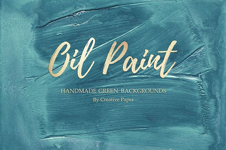 Oil Paint - Handmade Green Textures